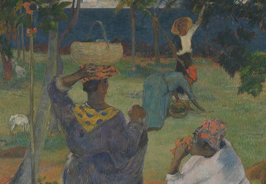 The Mango Trees, Martinique (detail; 1887), Paul Gauguin.