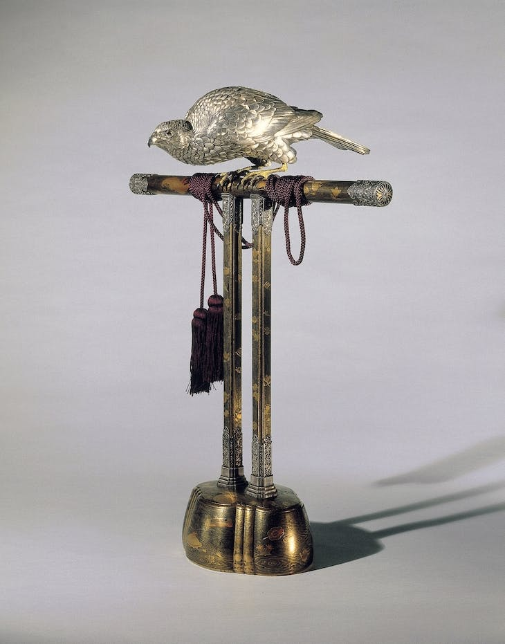 Incense burner in the form of a falcon, Sano Takachika