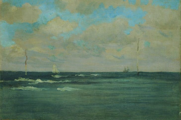 The Bathing Posts, Brittany (1893), James McNeill Whistler.
