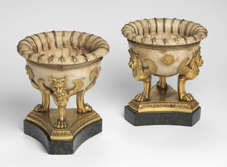 Two tazzas (c. 1780), Luigi Valadier. Private collection. Photo: Mauro Magliani