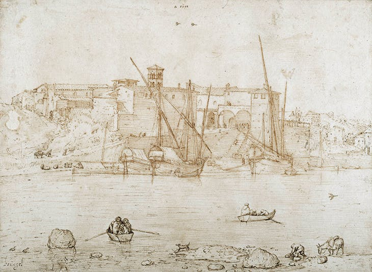 View of the Ripa Grande in Rome, Pieter Bruegel the Elder