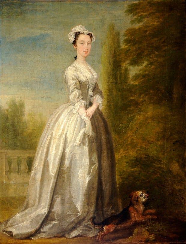 Frances Berkeley, Baroness Byron, (c. 1736), William Hogarth.