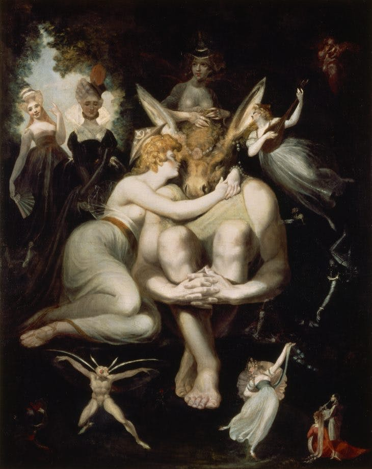 Titania Caressing Bottom, Henry Fuseli