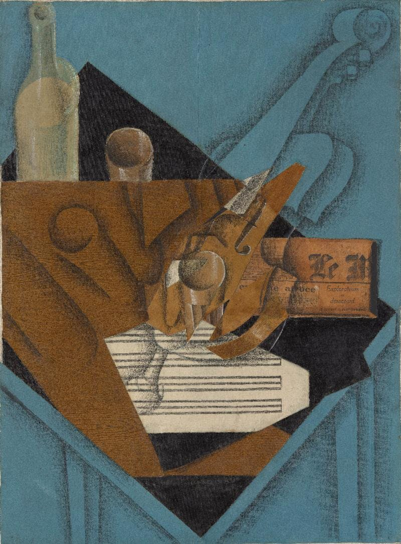 The Musician's Table (1914), Juan Gris. The Metropolitan Museum of Art, New York, Leonard A. Lauder Cubist Collection.
