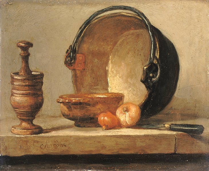 Still Life with Copper Cauldron (c. 1734–35), Jean-Siméon Chardin.