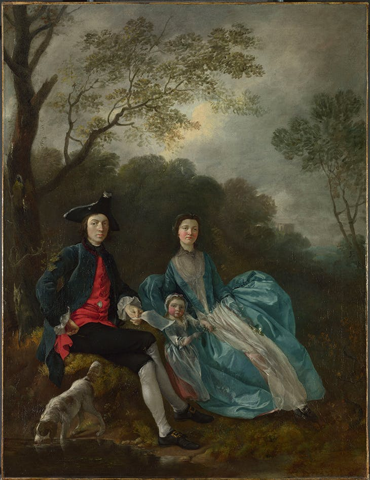 The Artist with his Wife and Daughter, Gainsborough