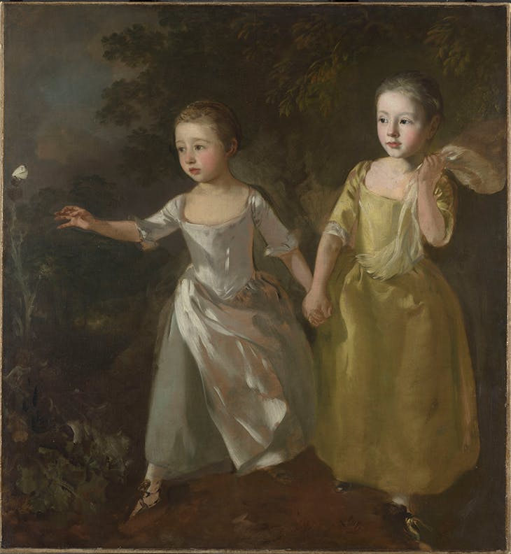 The Painter's Daughters Chasing a Butterfly, Gainsborough