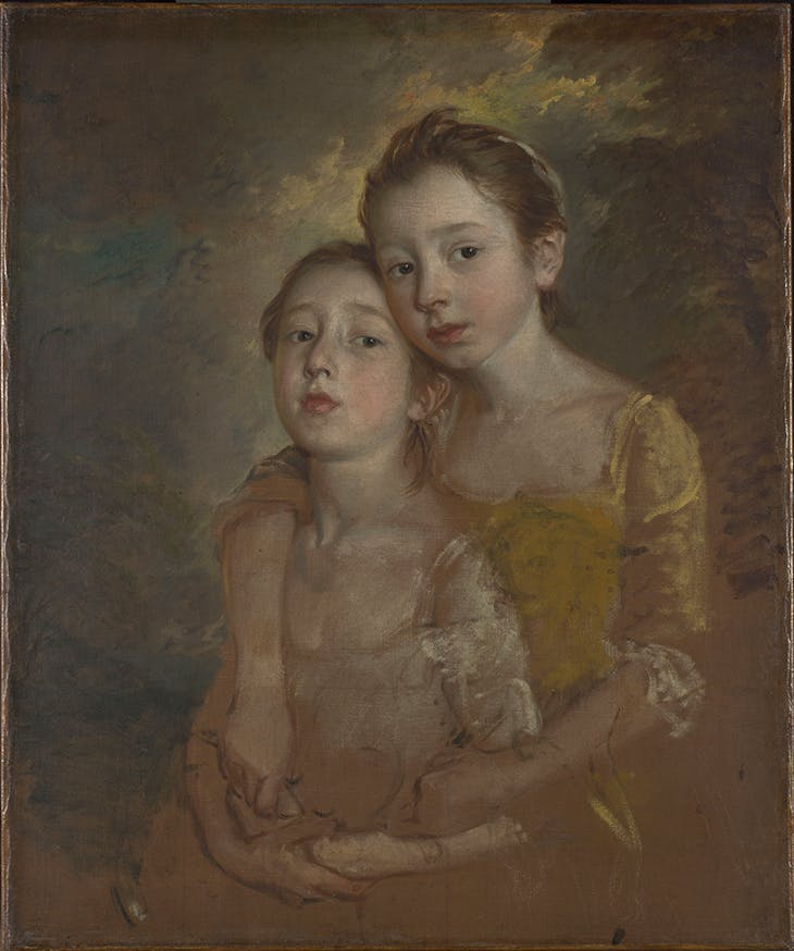 Painter's Daughters with a Cat, Thomas Gainsborough