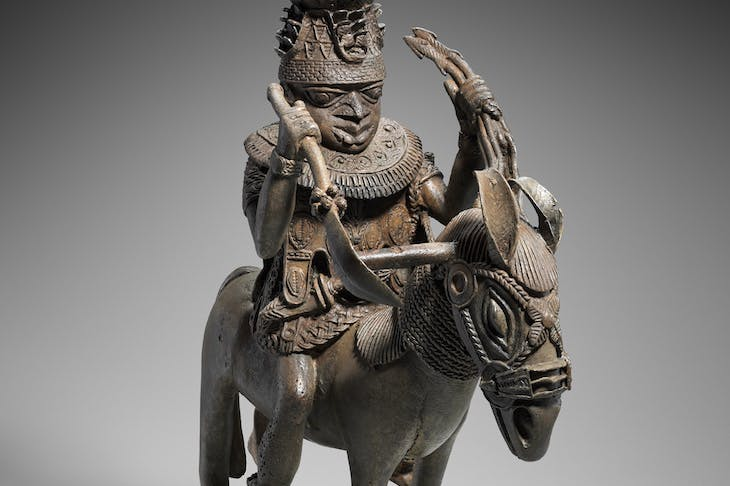 Mounted ruler (16th century), Edo peoples, Benin kingdom, Nigeria.