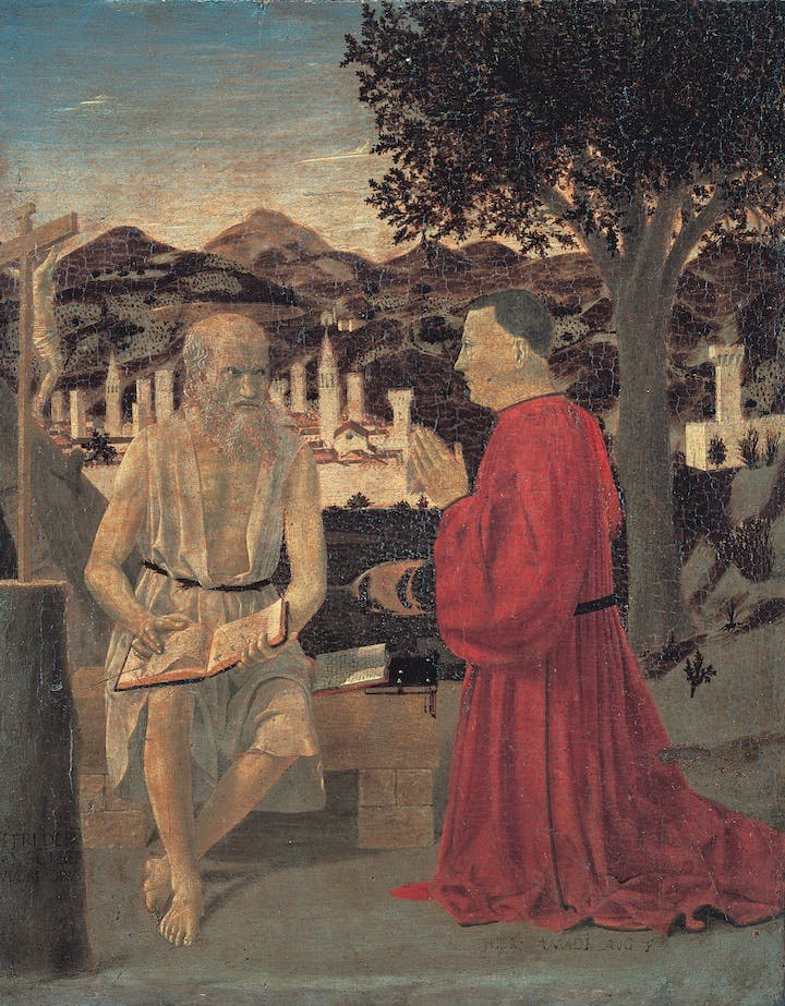 Saint Ludwig (from Palazzo Pretorio; 1460), Piero della Francesca. Courtesy of Civic Museum, Sansepolcro