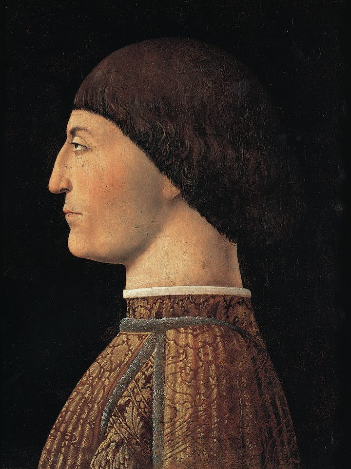 Portrait of Sigismondo Malatesta (c. 1451), Piero della Francesca. Courtesy of Musée du Louvre, Paris