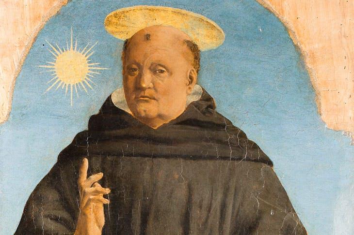 Saint Nicholas of Tolentino (1454–69), Piero della Francesca.