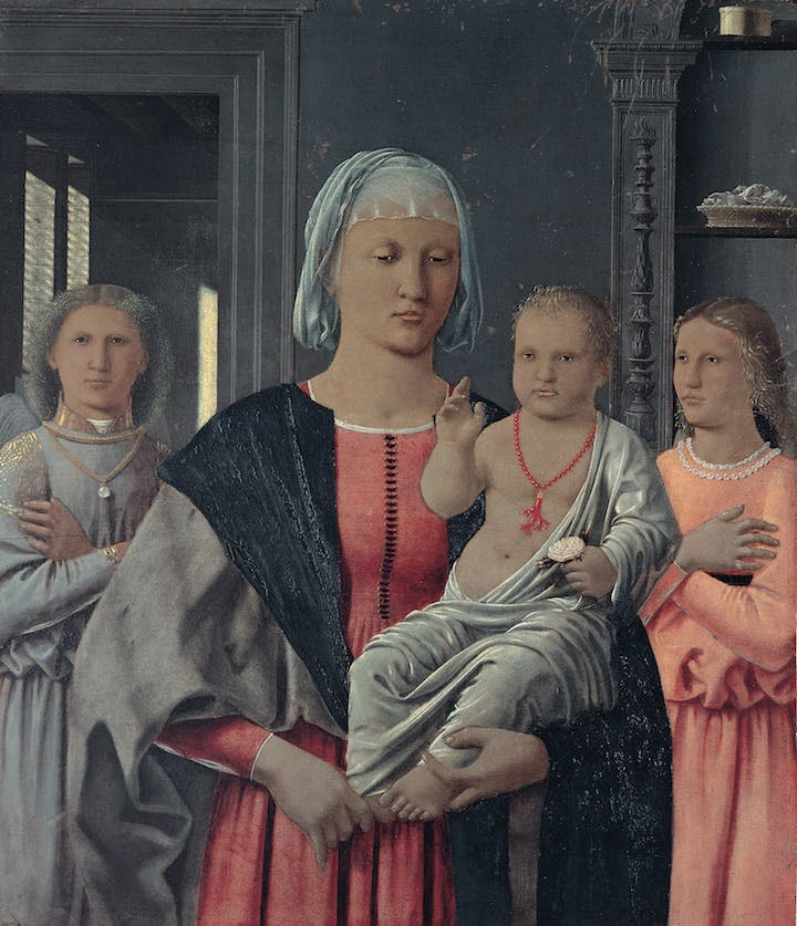 Madonna di Senigallia (1470-1485), Piero della Francesca. Courtesy of Marche National Gallery, Urbino