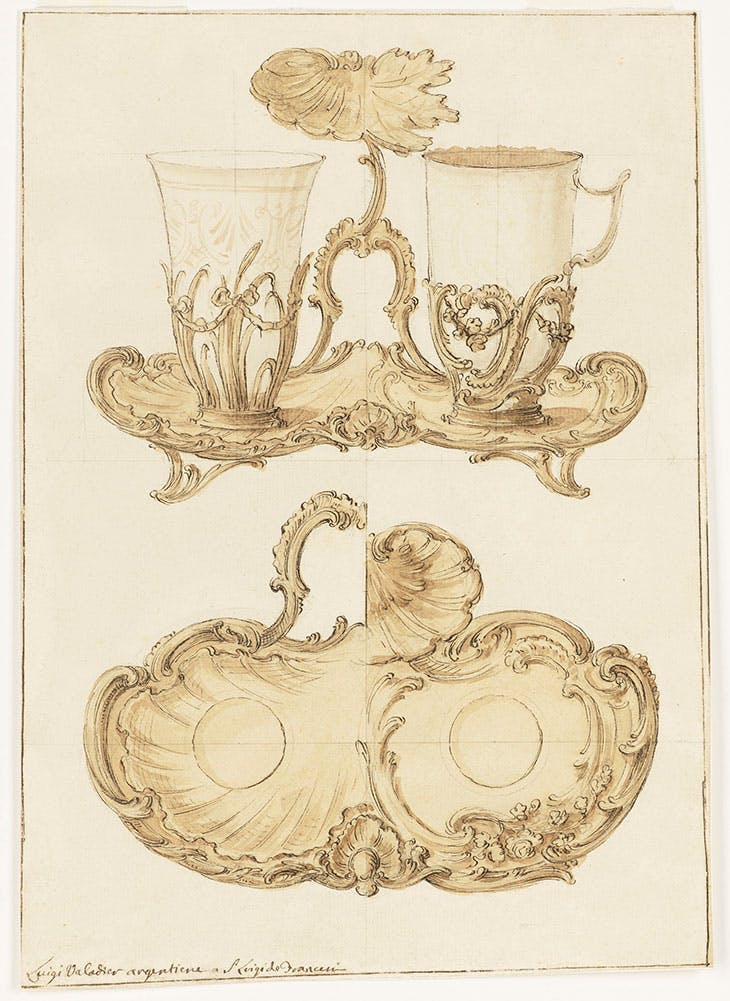 Design for a Trembleuse (Digiuné) (before 1762), Luigi Valadier.