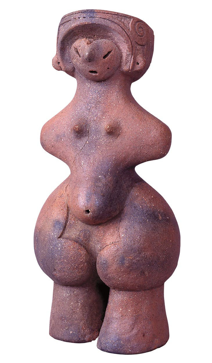 Dogu , known as 'Jomon Venus', Middle Jomon period (3,000–2,000 BC), from Tanabatake site, Chino-shi, Nagano. Chino City Museum of Jomon Archaeology