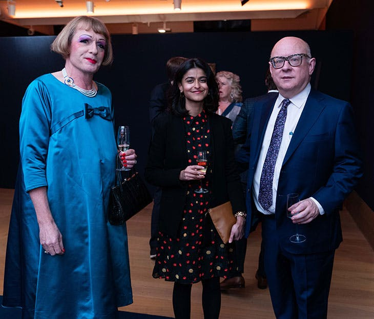 Grayson Perry, Munira Mirza and Thomas Sokolowski.