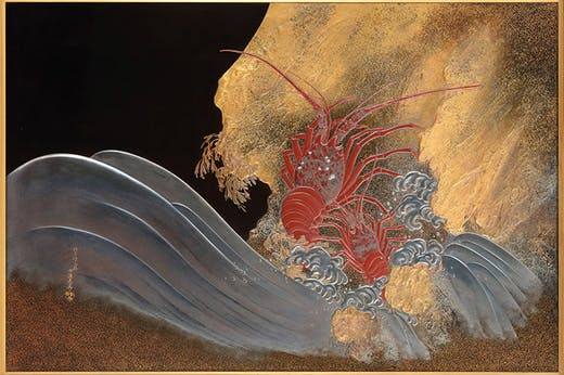 Panel depicting lobsters (1888), signed Shibata Zeshin. Christie's, £662,500.