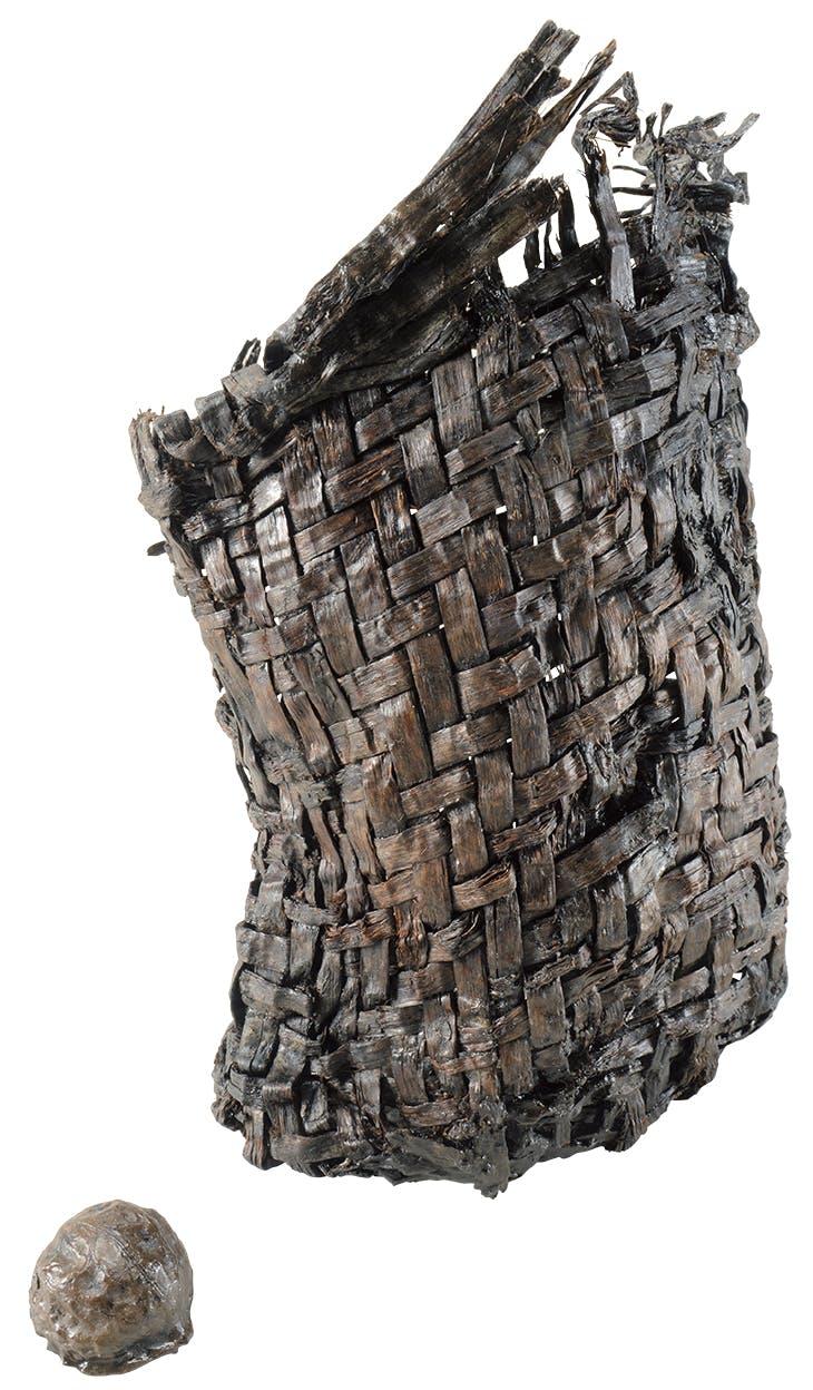 Basket, Middle Jomon period (3,000–2,000 BC), Sannai Marayuma site, from Aomori-shi, Aomori Wood.