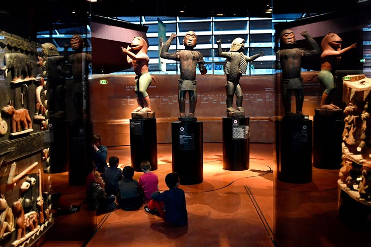 Royal statues from the kingdom of Dahomey (Benin), dating from 1890–92, currently at the Musée du Quai Branly, Paris, photo: Gerald Julien/AFP/Getty Images