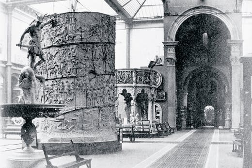 The Cast Courts at the Victoria and Albert Museum, London, photographed in the late 19th century.