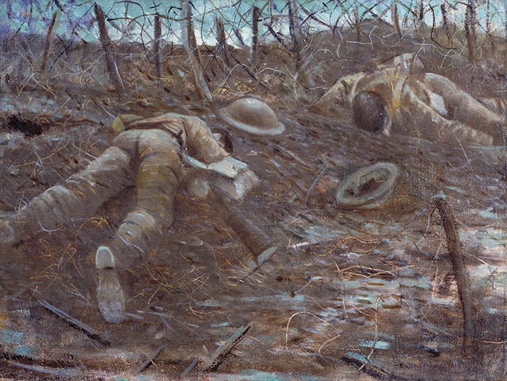 Paths of Glory (1917), Christopher Richard Wynne Nevinson. Exhibited in 'Aftermath: Art in the Wake of World War One' at Tate Britain in 2018.