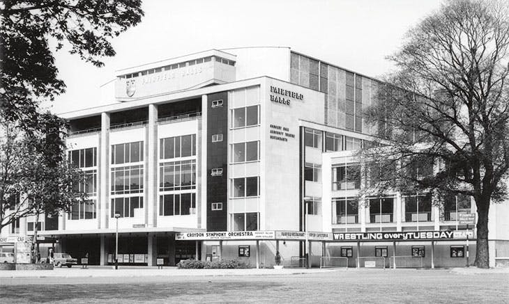 Fairfield Halls in Croydon, designed by Robert Atkinson and Partners in 1962 (photo: c. 1965).