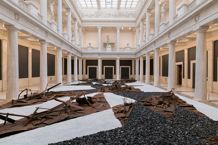 From Smoke and Tangled Waters We Carried Fire Home (2018), Postcommodity. Installation view at the 57th Carnegie International in 2018.