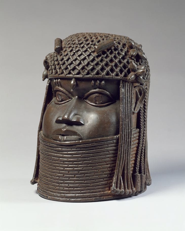 Head of an Oba (1550–1680), Edo peoples, Benin kingdom, Nigeria.