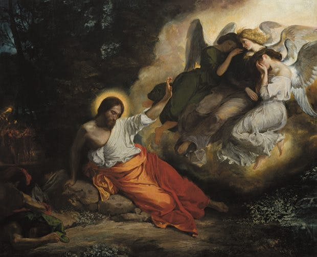 Christ in the Garden of Olives, (1824–26), Eugène Delacroix.