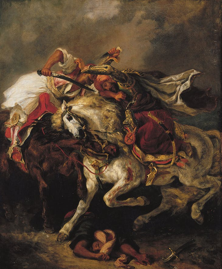 Combat of the Giaour and Hassan (1835), Eugène Delacroix.