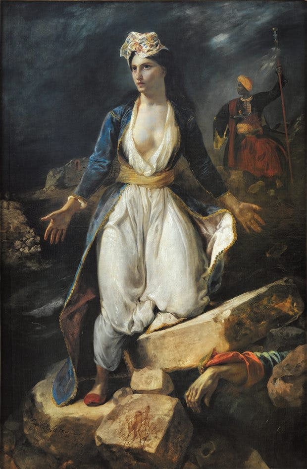 Greece on the Ruins of Missolonghi, (1826), Eugène Delacroix. Musée des Beaux-Arts de Bordeaux.