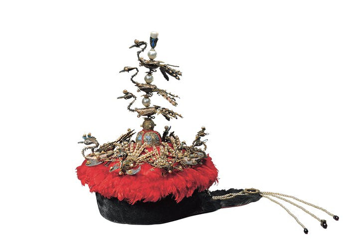 Court hat with phoenixes (18th or 19th century), probably Imperial Workshop, Beijing