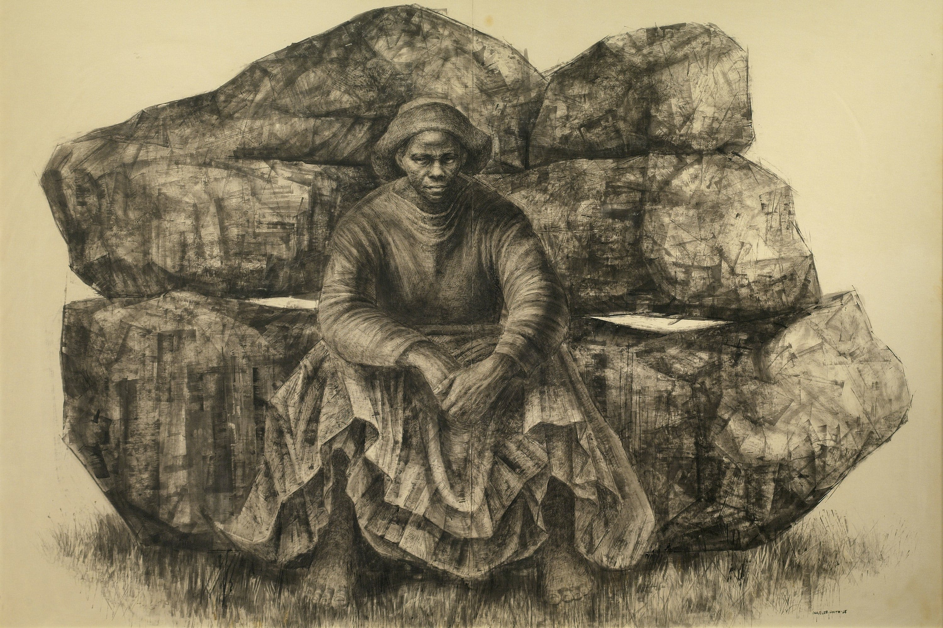 General Moses (Harriet Tubman) (1965), Charles White.