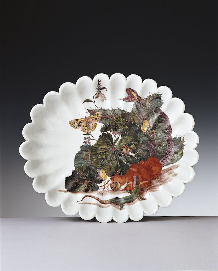 Fruit Bowl (1746), Doccia Manufactory, decorated by Anton Anreiter von Ziernfield.