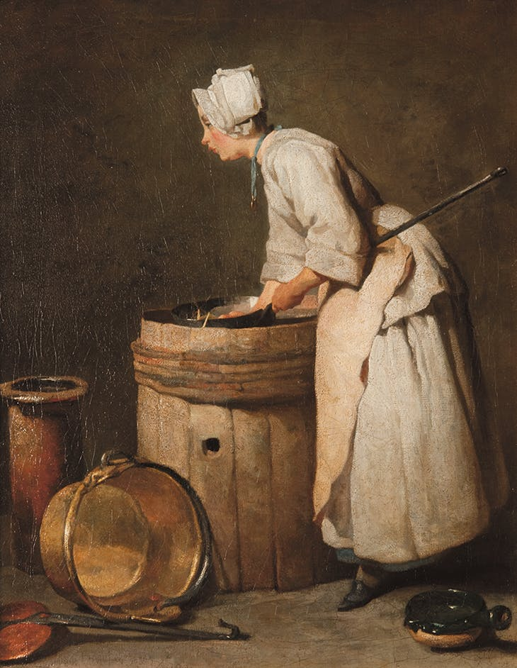 The Scullery Maid (c. 1738), Jean-Siméon Chardin.