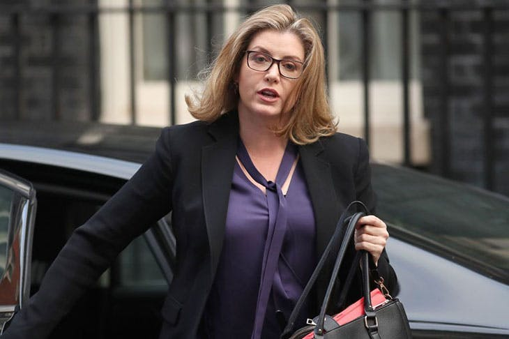 International Development Secretary and Minister for Women and Equalities in the UK Penny Mordaunt, outside 10 Downing Street in October 2018.