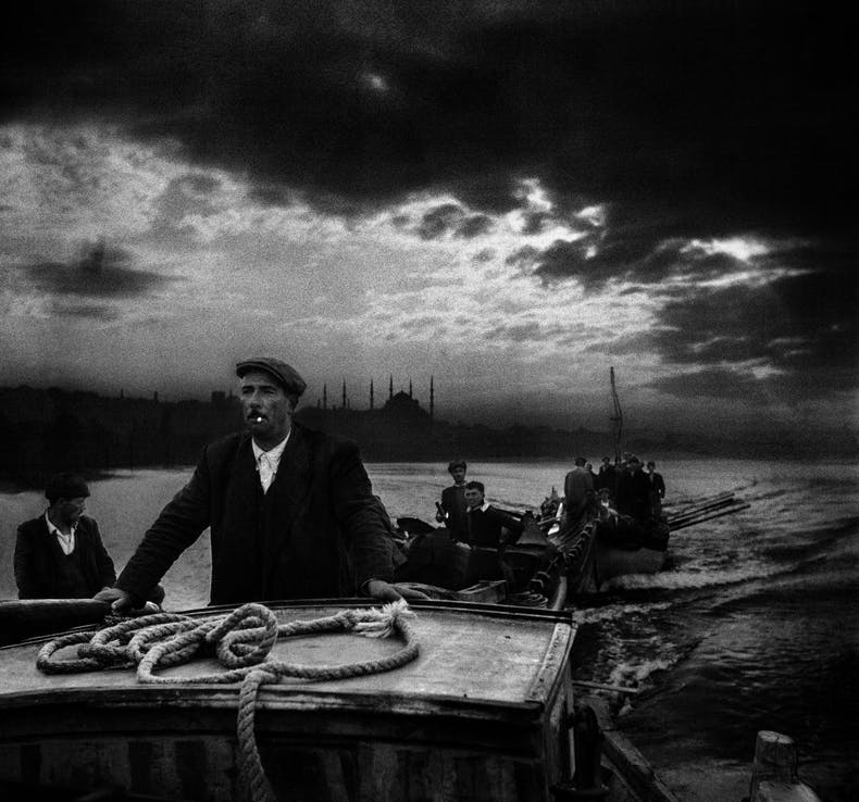 Kumkapi fishermen returning to port in the first light of dawn, Istanbul, 1950, Ara Güler. Courtesy Ara Güler Museum