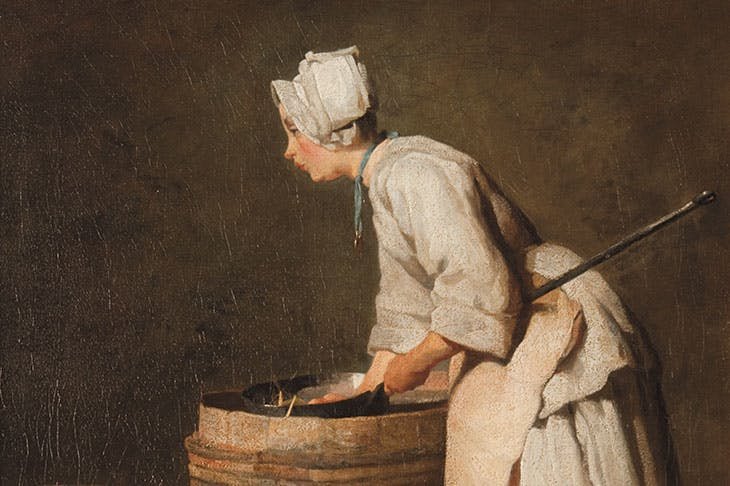 The Scullery Maid (detail; c. 1738), Jean-Siméon Chardin. Hunterian Art Gallery, Glasgow