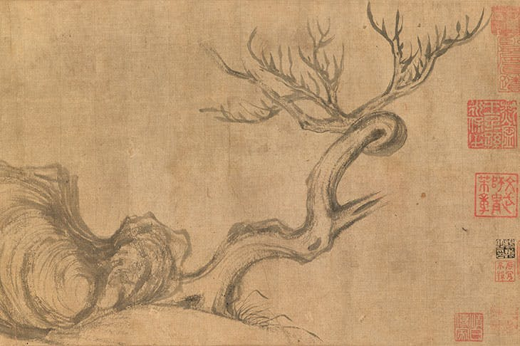 Wood and Rock (11th century), Su Shi.