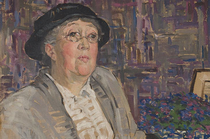 Portrait of Gertrude Jekyll (detail; 1910–11), Mary Swanzy. Private collection