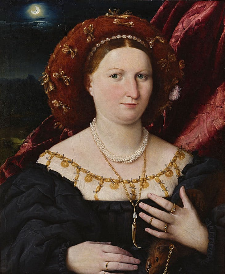 Portrait of Lucina Brembati (c. 1521–23), Lorenzo Lotto.