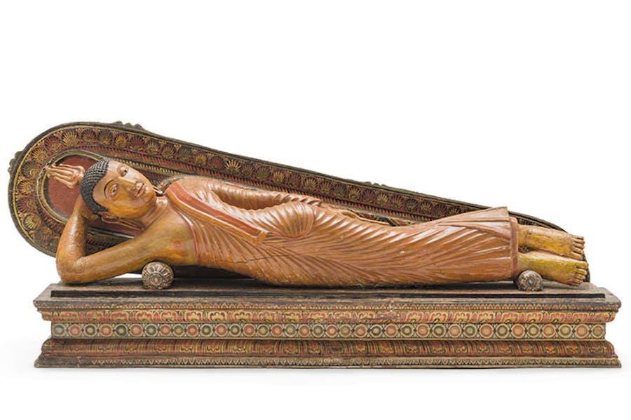 Buddha Shakyamuni Reclining(18th century), Kandy period, Sri Lanka.© Museum Associates/LACMA