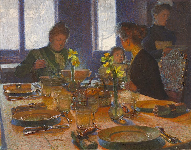 At the Lunch Table, Carl Moll