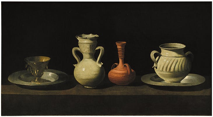 Still Life with Vessels (c. 1650), Francisco de Zurbarán.