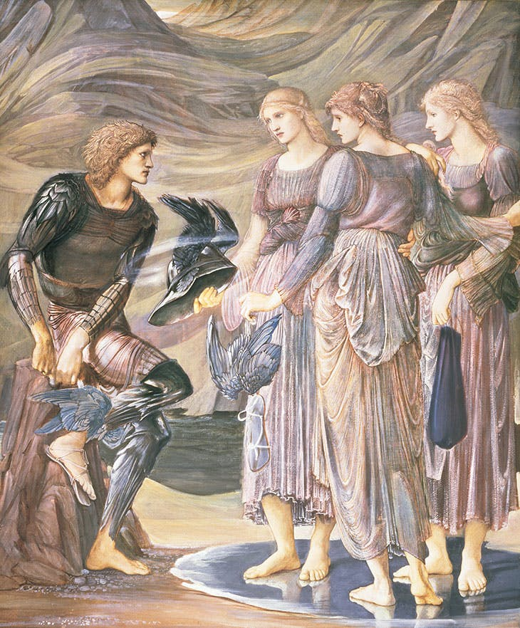 Perseus and the Sea Nymphs (The Arming of Perseus) (1877), Edward Burne-Jones.