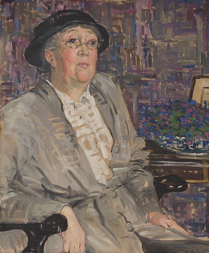 Portrait of Gertrude Jekyll (1910–11), Mary Swanzy. Private collection