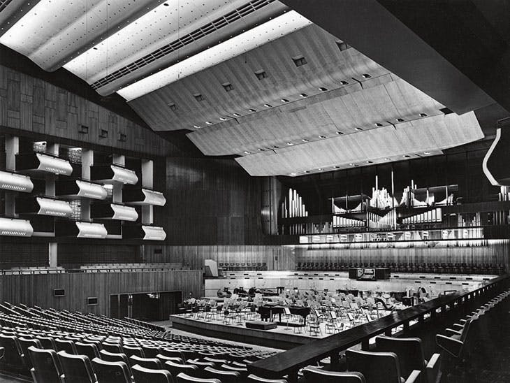 The Royal Festival Hall auditorium, photographed in 1950