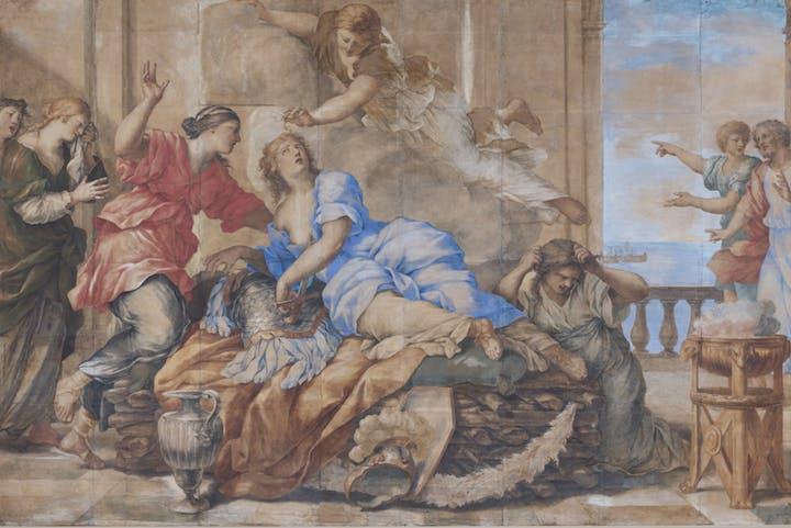 The Death of Dido (c. 1630-35), Giovanni Francesco Romanelli. Norton Simon Art Foundation