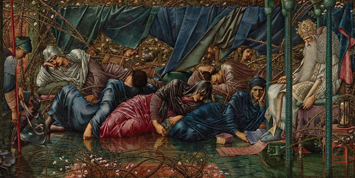 The Council Chamber , from the Legend of the Briar Rose series (detail; 1885–90), Edward Burne-Jones.