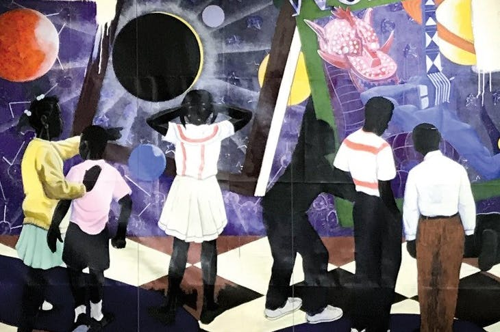 Knowledge and Wonder (1995) (detail) by Kerry James Marshall.